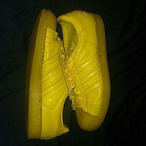 Adidas Yellow Superstars